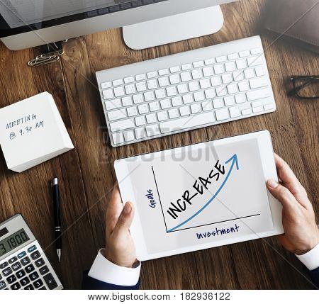 Business Success Graphic Upward Arrow