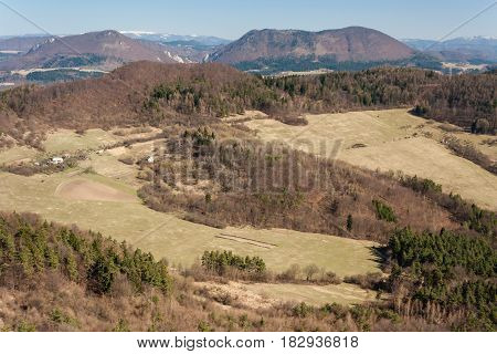 aerial view of Manin mountain range in Slovakia