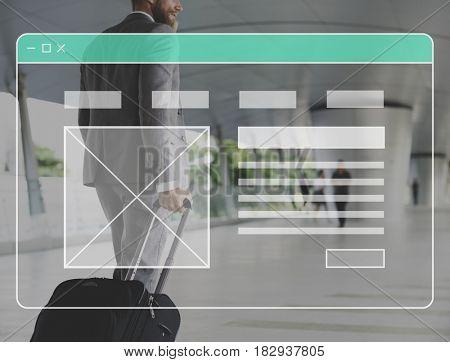 Web Page Internet Design Template Copy Space