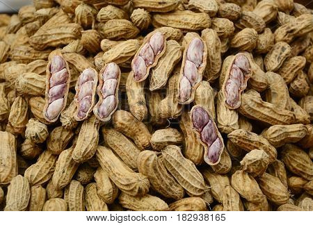 Boiled Peanuts For Sale At Street Market