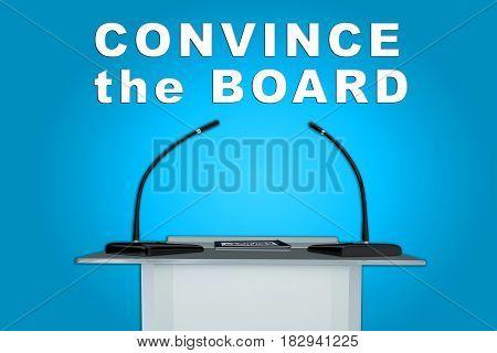 Convince The Board Concept
