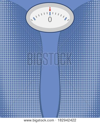 Bathroom Scale  Raster Illustration
