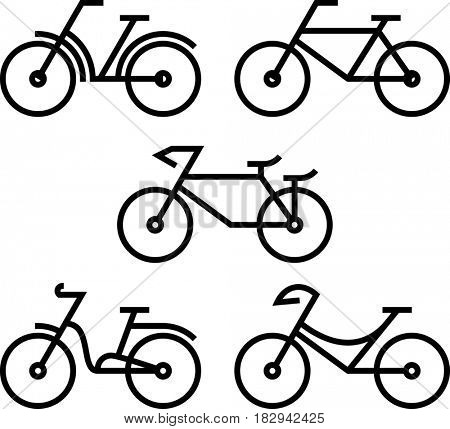Bicycle Icon  Raster Illustration
