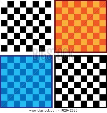 Chessboard  Raster Illustration