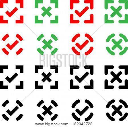 Check Mark Icon  Raster Illustration
