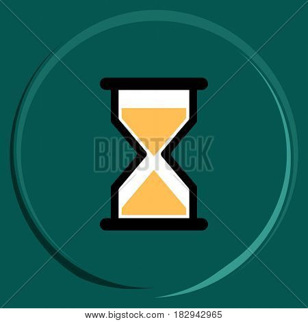 Hourglass Icon  Raster Illustration