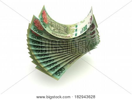 Argentina Pesos (isolated with clipping path)  3D Rendering