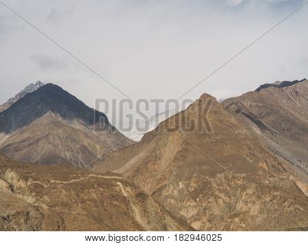 Beautiful Mountainscape Along The Karakoram Highway In Pakistan