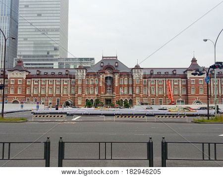 Tokyo Japan - Jan 10 2017. View of the Main Station in Tokyo Japan. Open in 1914 a major a railway station near the Imperial Palace grounds and Ginza commercial district.