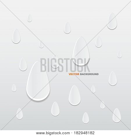 3D raindrops abstract background. Trendy vector illustration. 3D design.