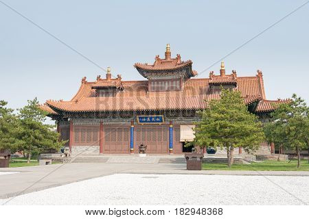 Shanxi, China -  Sept 21 2015: Fahua Temple. A Famous Historic Site In Datog, Shanxi, China.
