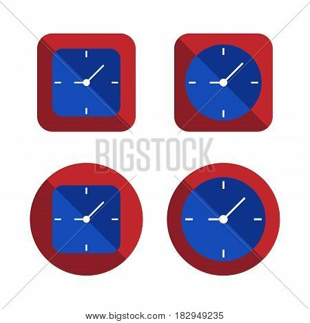 several style of clock icons set,vector Illustration EPS10
