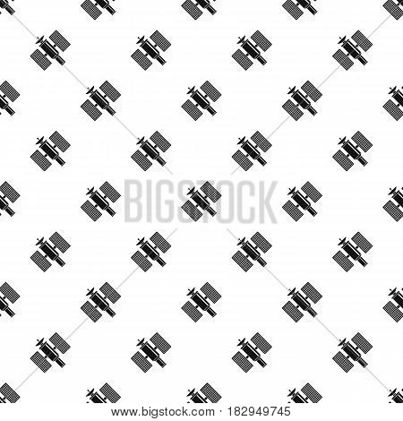 Space satellite pattern seamless in simple style vector illustration
