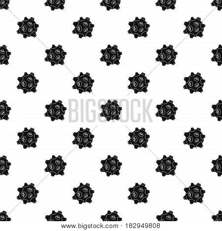 Moon with craters pattern seamless in simple style vector illustration
