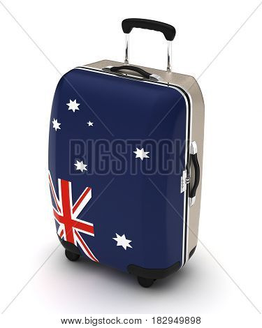 Travel to Australia (isolated with clipping path) 3D Rendering