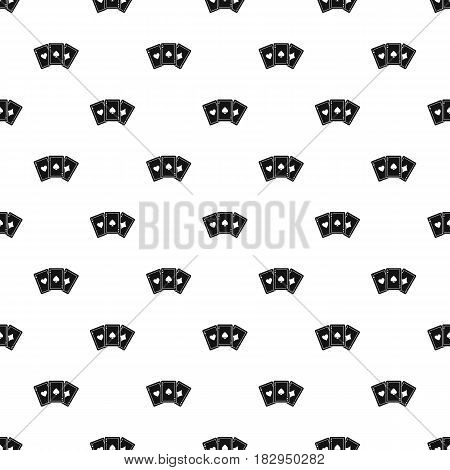 Three aces playing cards pattern seamless in simple style vector illustration