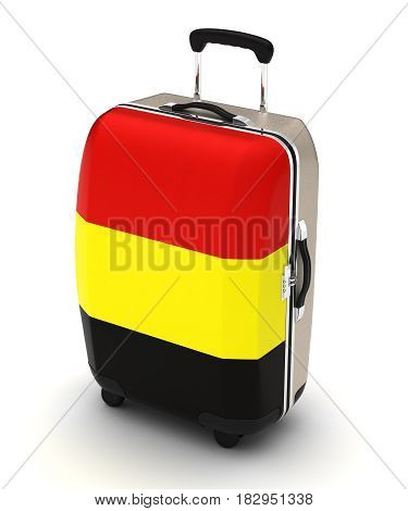 Travel to Belgium (isolated with clipping path) 3D Rendering