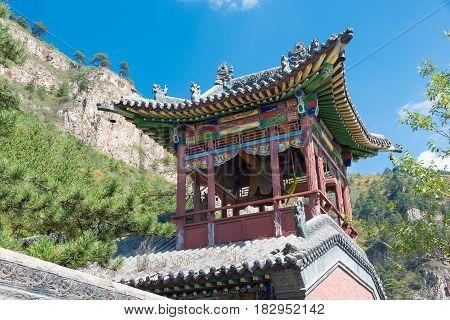 Shanxi, China - Sept 19 2015: Heng Shan. A Famous Historiclandscape In Hunyuan, Datong, Shanxi, Chin