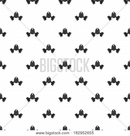 Gas mask pattern seamless in simple style vector illustration