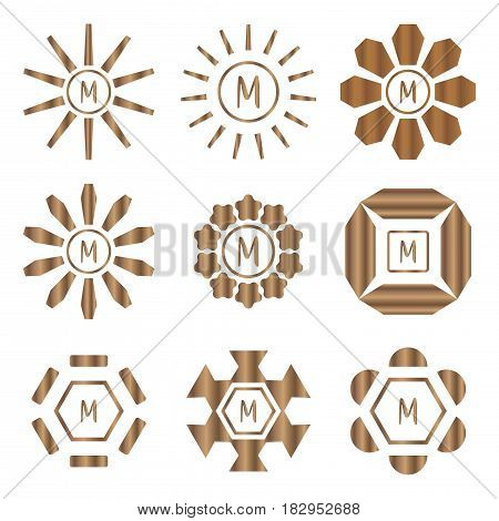 abstract rotate shape logo badge set,vector Illustration EPS10
