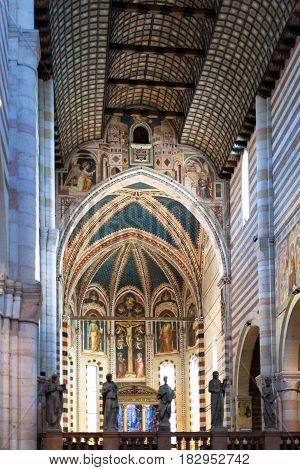 Nave Of Basilica Di San Zeno In Verona City