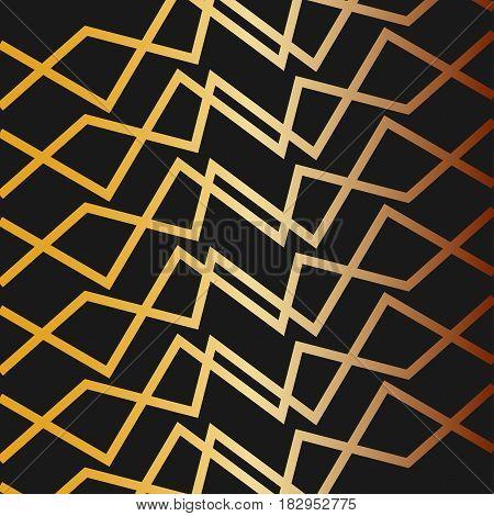 abstract gold zig zag line design background,vector Illustration EPS10