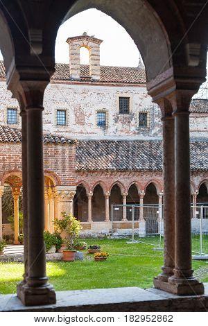 Inner Yard Of Basilica Di San Zeno In Verona