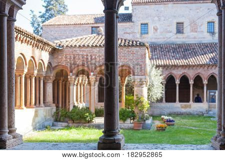 Patio Of Basilica Di San Zeno In Verona City