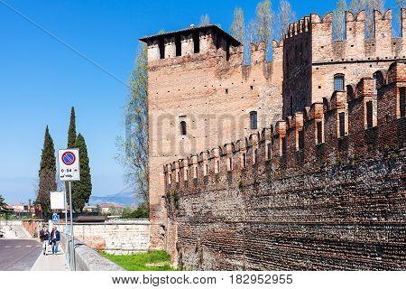 People Near Castelvecchio (scaliger) Castle