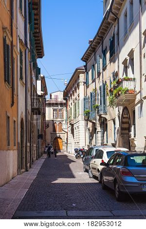 Via Augusto Verita In Historical Center Of Verona