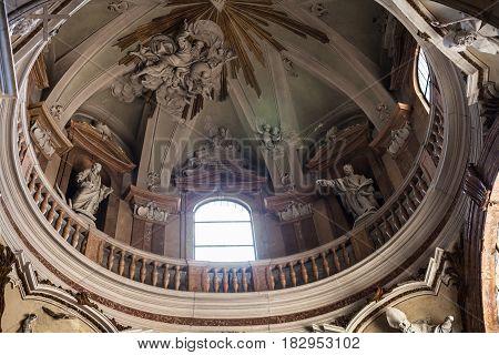 Cupola Of Duomo Cathedral In Verona City
