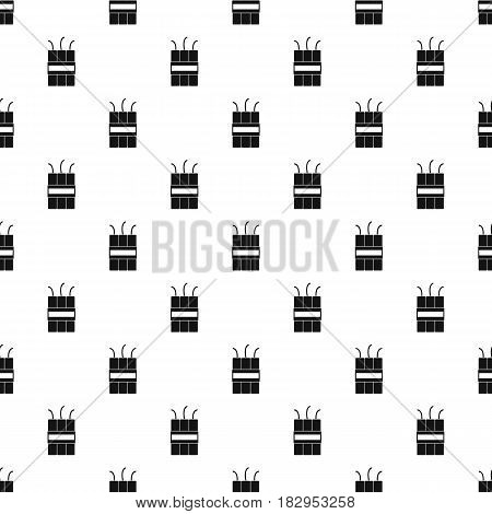 Dynamite explosives pattern seamless in simple style vector illustration