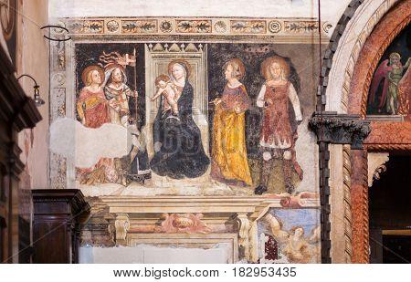 Wall Painting In Chiesa Sant Anastasia In Verona