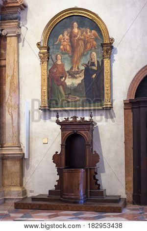 Decoration Of Chiesa Di Sant Anastasia In Verona