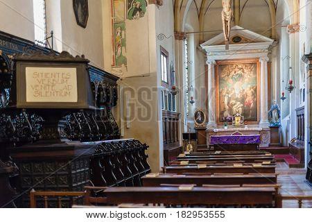 Interior Of Chapel In Chiesa Di Sant Anastasia