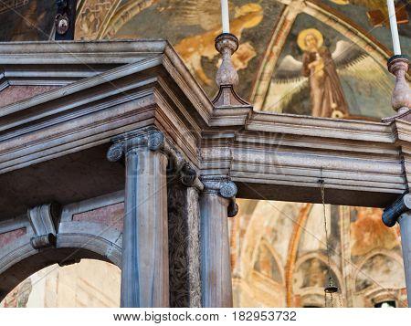 Interior Of Upper Church In Chiesa Di San Fermo