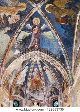 Ceiling Of Upper Church In Chiesa Di San Fermo