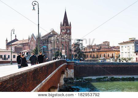 Bridge Ponte Delle Navi And Chiesa Di San Fermo