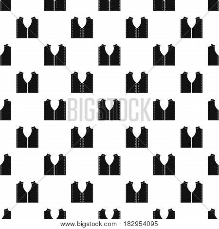 Pattern for sewing pattern seamless in simple style vector illustration