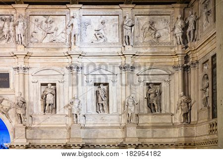 Wall On Stage Of Teatro Olimpico In Vicenza