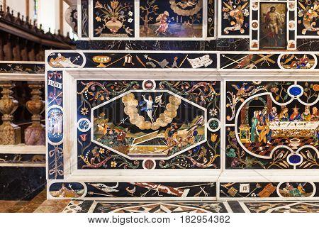 Mosaic Altar In Chiesa Di Santa Corona In Vicenca