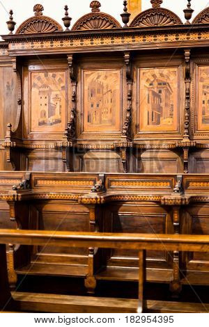 Choir Stalls In Chiesa Di Santa Corona In Vicenza