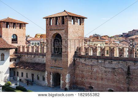 Above View Of Inner Court Of Castelvecchio