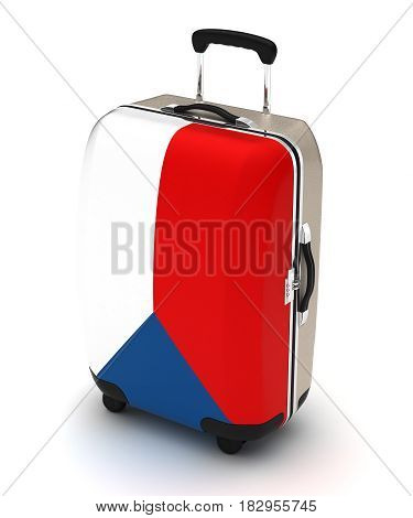Travel to Czech (isolated with clipping path) 3D Rendering