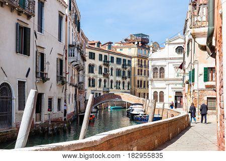 Waterfront Of Canal Rio Del La Pleta In Venice