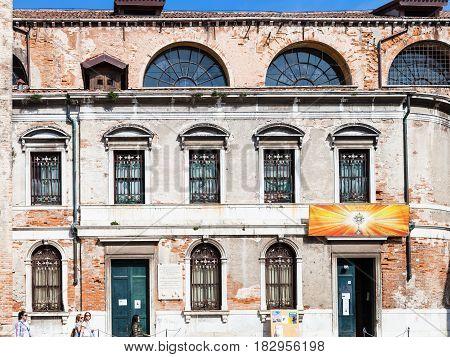 Facade Of Chiesa Di San Silvestro Papa In Venice