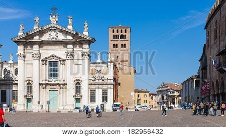 Duomo Cathedral On Piazza Sordello In Mantua