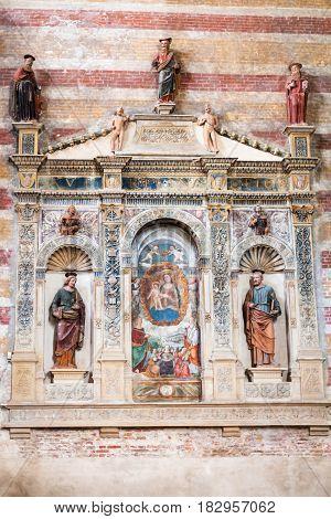 Indoor Of Church Of The Eremitani In Padua