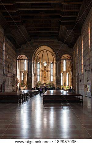 Nave Of Church Of The Eremitani In Padua