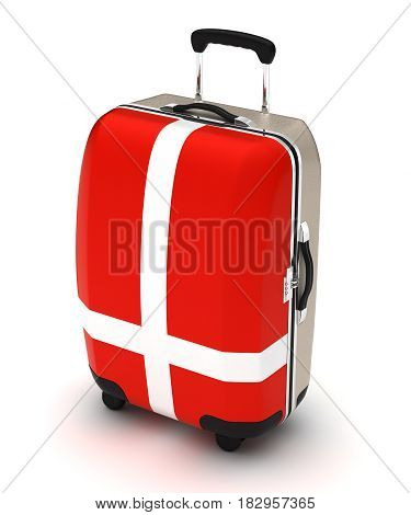 Travel to Denmark (isolated with clipping path) 3D Rendering